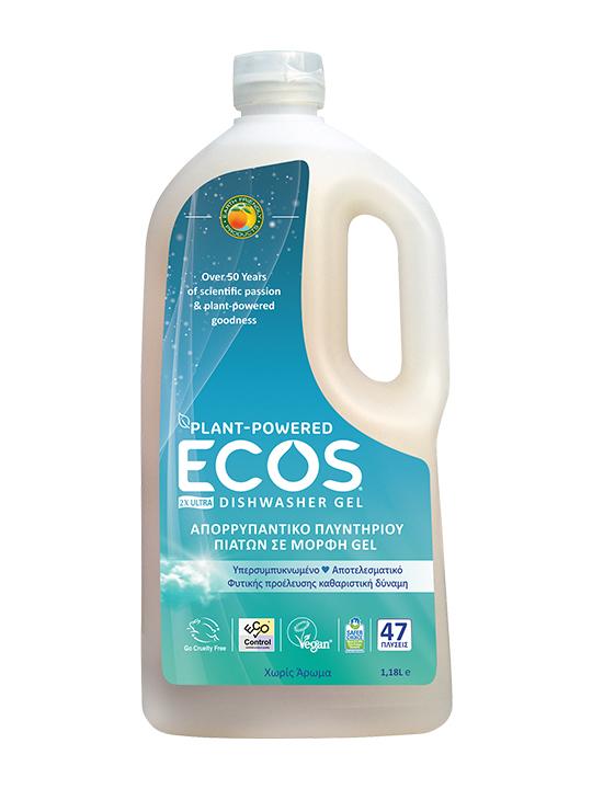 ECOS Καθαριστικό Gel Πλυντηρίου Πιάτων Χωρίς Άρωμα