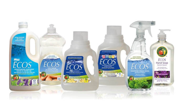 Πράσινα οικολογικά προϊόντα καθαρισμού για το σπίτι και τα κατοικίδια ECOS από την Earth Friendly Products