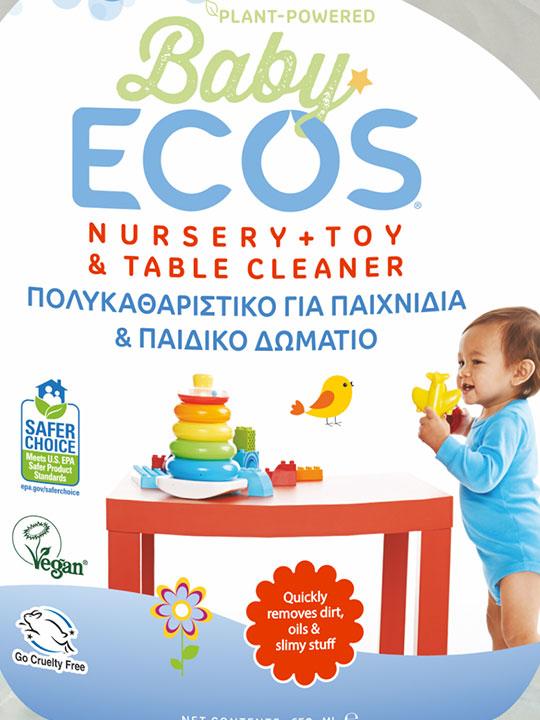 ECOS Baby Καθαριστικό για Παιχνίδια και το Παιδικό Δωμάτιο