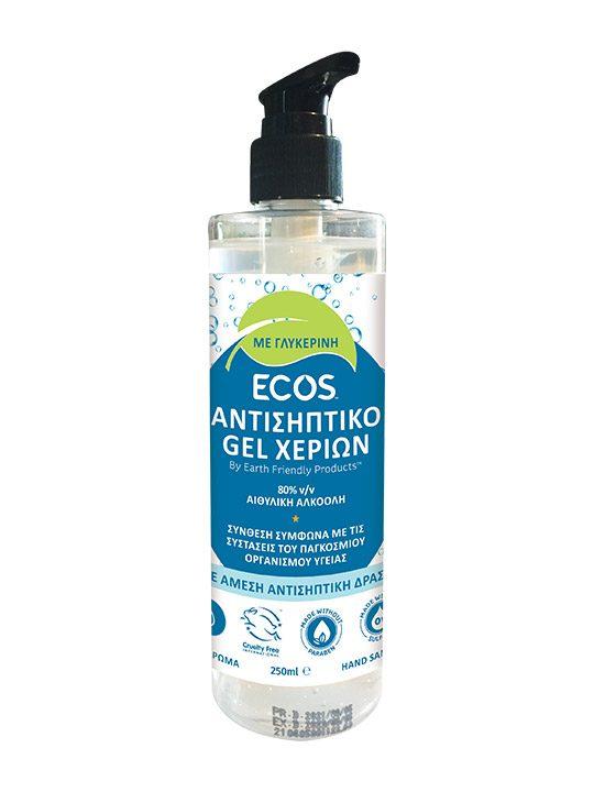 ECOS® Αντισηπτικό Τζελ Χεριών Ταχείας Δράσης
