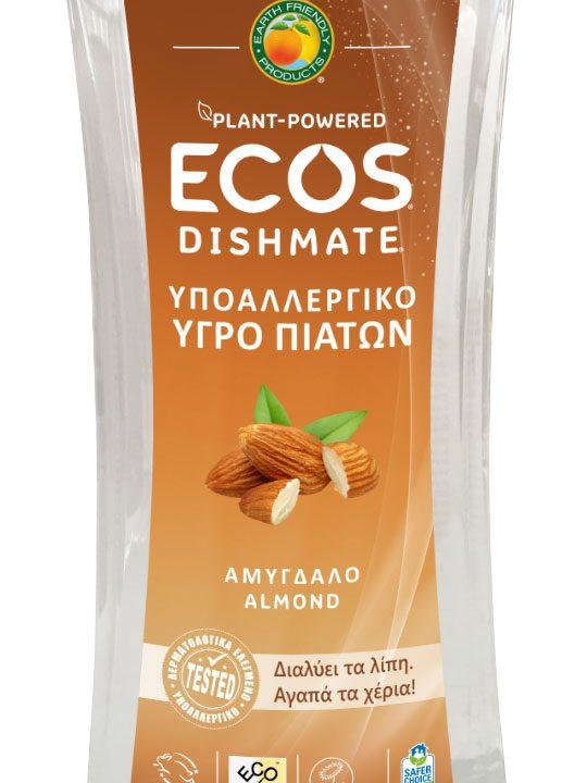 ECOS Υγρό Πιάτων για πλύσιμο στο χέρι - Αμύγδαλο - 500ml