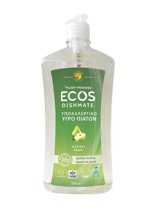 ECOS Υγρό Πιάτων για πλύσιμο στο χέρι - Αχλάδι - 500ml