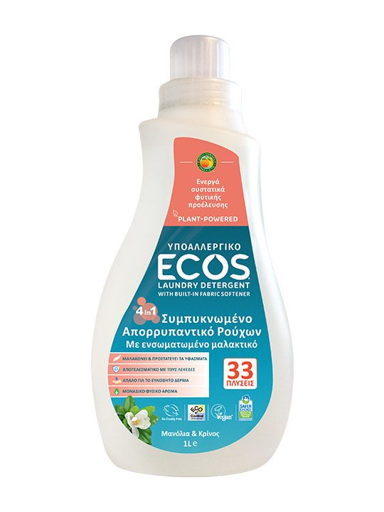 ECOS Απορρυπαντικό Πλυντηρίου Ρούχων - Μανόλια και Κρίνος