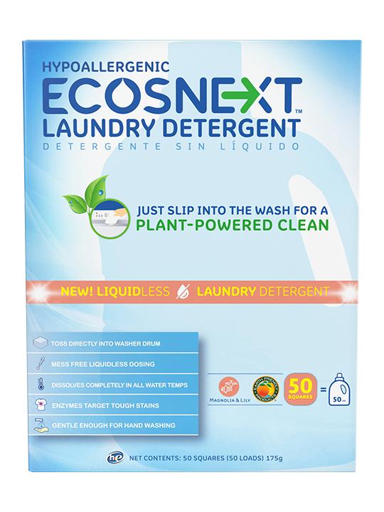 ECOSNext Απορρυπαντικό Ρούχων Σε Φύλλα - Μανόλια και Κρίνος - 50 Πλύσεις